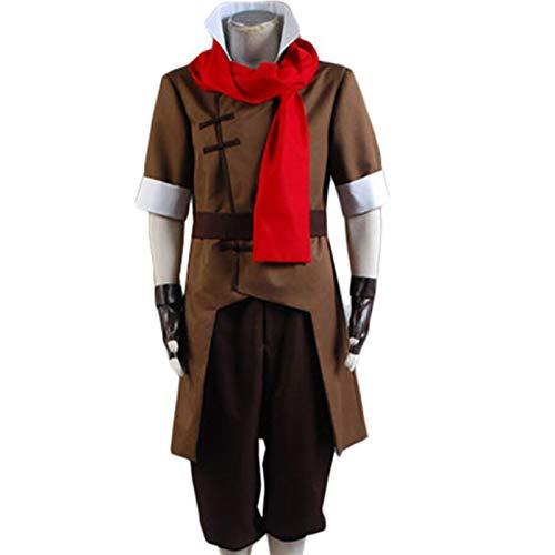 YLJXXY Avatar Disfraz de Cosplay de Halloween Korra Mako Disfraz de Cosplay Fiesta de Disfraces para Hombres,XL