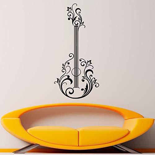 HNXDP abstrakte Gitarre Wandtattoo Vinyl Musikinstrument Wandaufkleber Musik Home Interior Decor Schlafzimmer Dekor Poster X328 88x42cm