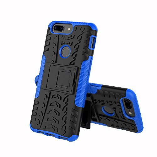 TiHen Funda Oneplus 5T 360 Grados Protective con Pantalla de Vidrio Templado. Caso Carcasa Case Cover Skin móviles telefonía Carcasas Fundas para Oneplus 5T - Azul