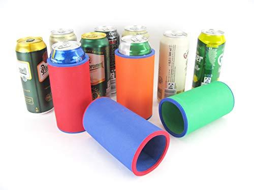 asiahouse24 Getränkekühler - Bierkühler - Dosenkühler für 0,5L Bierfdosen aus bestem 5-6mm dicken Neopren für Beste Kühlung - Qualitätskühler (4er Set Dosenkühler Bunte Mischung, 0,5L)