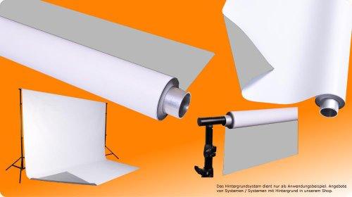 moderntex Vinylhintergr& Duo, 2.7m breit x 6m lang, grau und weiß, Vinyl zweifarbig