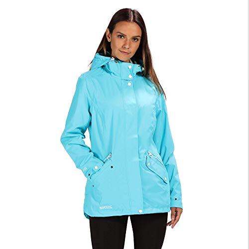 Regatta Basilia Veste imperméable Femme Azure Blue FR : L (Taille Fabricant : Taille 16)