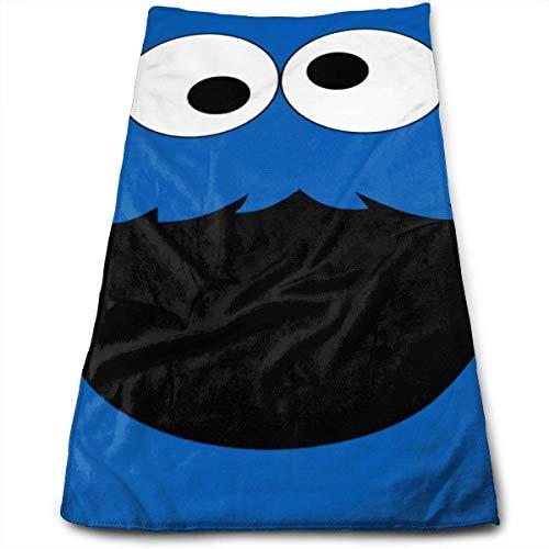 Cookie Monster Neuheit Kunst Gesicht Handtücher Mikrofaser Sporthandtücher für Die Sporthaarpflege Kosmetologie Reinigung Möbel Make Up Entfernen von Tüchern Schnell Trocknend 12×27.5 Zoll