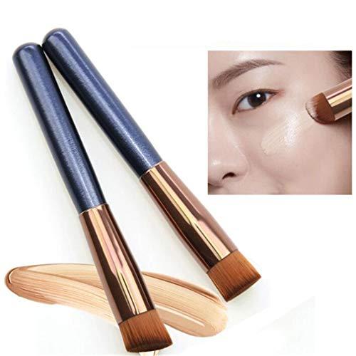 CAVIVI Maquillage Brosse Fibre Artificielle Cheveux Maquillage Brosse Cosmétique Fondation Brosse Poudre Brosse Beauté Outil,Cheveux Courts