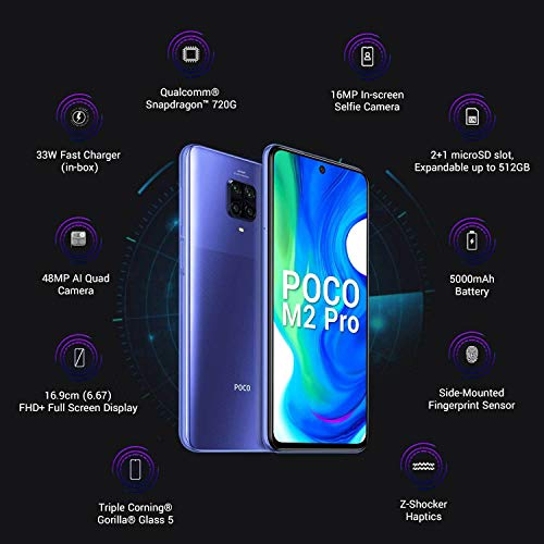 Poco M2 Pro (Out of The Blue, 4GB RAM, 64GB Storage)