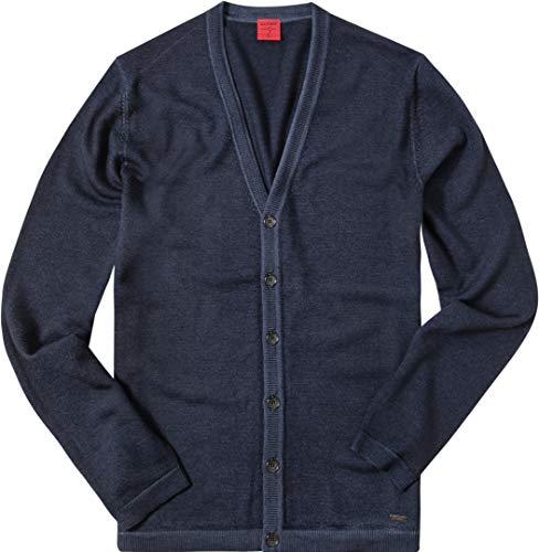 OLYMP Herren Cardigan Jacke Uni & Uninah, Größe: L, Farbe: Blau