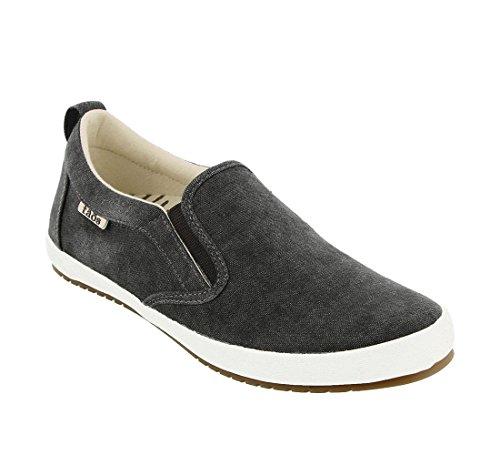 Taos Footwear Women's Dandy Charcoal Wash Canvas Slip On 8.5 M US