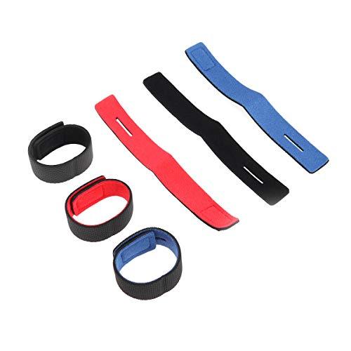 VORCOOL 6 Stücke Angel Rutenbänder Klettbänder Rutenklettband für Angelruten (Rot Blau Schwarz)