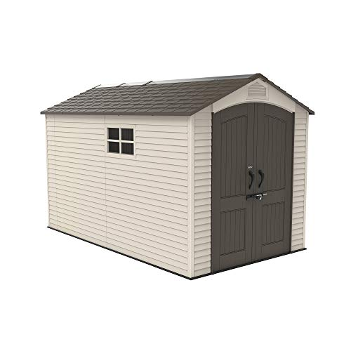 Lifetime 60282 Outdoor Storage Shed, Desert Sand, 7 x 12 ft