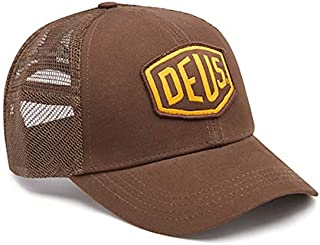 DEUS EX MACHINA (デウスエクスマキナ) メッシュキャップ 帽子/WOVEN SHIELD TRUCKER - BROWN / DMS87682