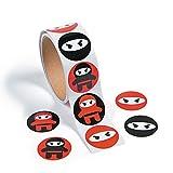 cama24com Ninja Samurai Aufkleber Sticker 100 Stück Mitgebsel Gastgeschenke Partytüten mit...