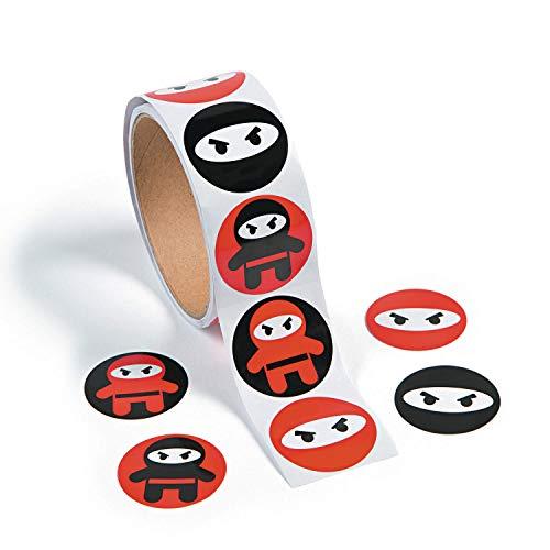 cama24com Ninja Samurai Aufkleber Sticker 100 Stück Mitgebsel Gastgeschenke Partytüten mit Palandi® Sticker
