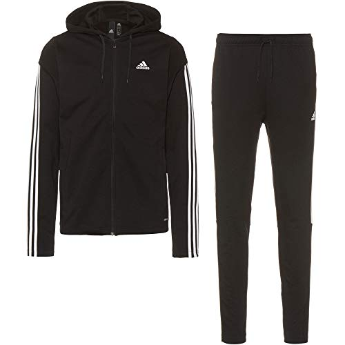 adidas Herren M Rib Tracksuit Trainingsanzug, Black, M