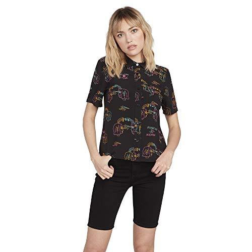 Volcom Ozzy Alien Ss Damen-T-Shirt M Schwarz