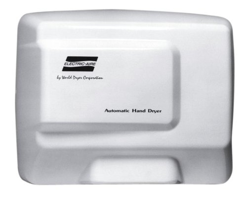 World Dryer Electric-Aire LE1-974 Alum White Automatic Hand Dryer - 110/120V
