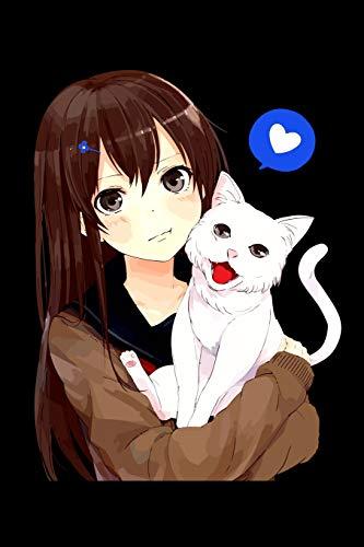 Anime Girl Neko Cat: Shopping List Book