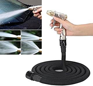 30FT 3m Car High Pressure Washing Tool Telescopic Water Pipe Set High Quality (Color : Black)