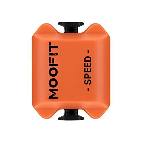 moofit Bluetooth & ANT+ Geschwindigkeitssensor Fahrrad Speed Sensor Wasserdicht für Wahoo Fitness, Zwift, E-lite HRV, Openrider