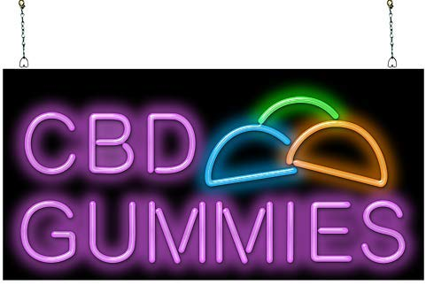 CBD Gummies Neon Sign