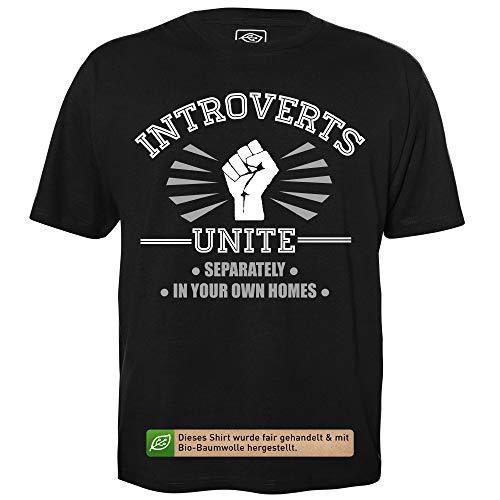 getDigital Introversi unitevi - T-Shirt Uomo Geek con...