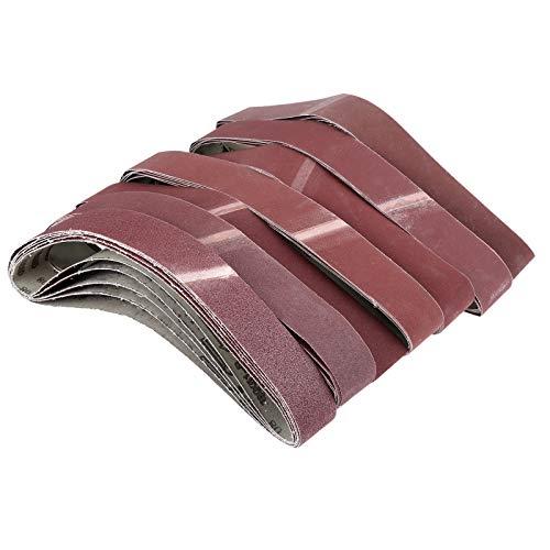 XCQ 5 stücke 760 * 40mm abrasives polierendes Schleifbänder Schleifpapier für Gürtel Sander GRIT 60-800 Aluminiumoxidschleifbandbandband dauerhaft 0405 (Grit : Grit 120)
