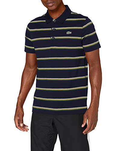 Lacoste YH1492 Camisa de Polo, Marine/Vert-Guepe-Blanc, XS para Hombre