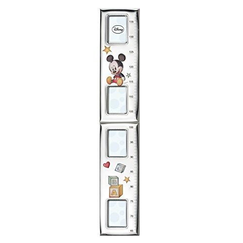 Disney - Mickey Mouse - Gráfico de crecimiento para la pared - Con marcos y detalles en plata - Medidor para decorar una habitación infantil
