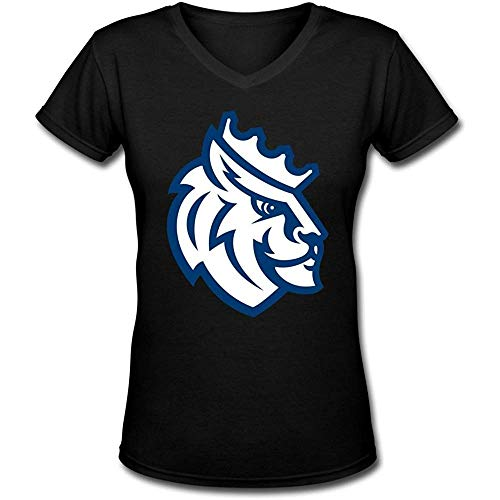 Gilbert Joyce Ladys Queens University of Charlotte Royals V-Neck Short Sleeve T Shirt (Size:XXXL