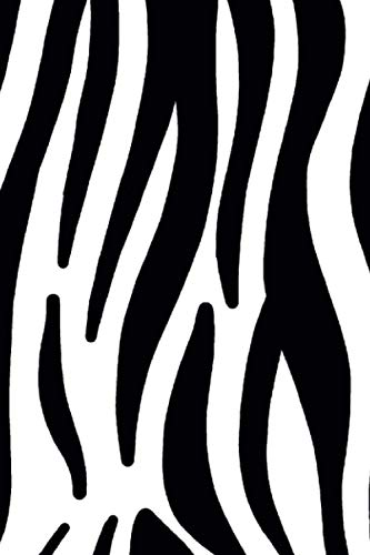 Notebook - Zebra Pattern: Book for notes, 120 pages plaid, ideal for fans of zebra, zoo and safari