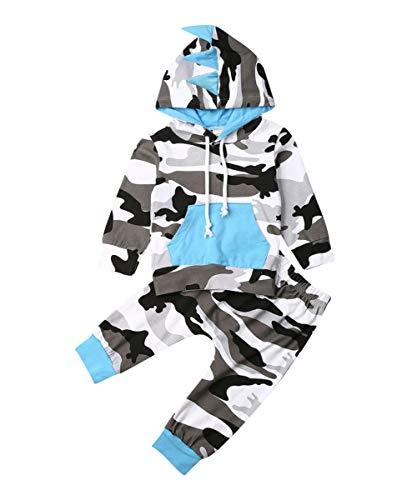 Hnyenmcko Peuter Baby Jongen Camo Hoodie Broek Leggings Outfit Set Tracksuit Herfst Winter Outfit Kleding Set