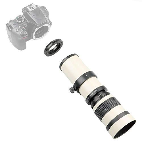 Bindpo Objektivteleskop, Aluminiumlegierung 420-800 mm Objektiv Voll manuelle Fokussierung Telezoomobjektiv mit T2-Fassung für Nikon F-Fassung Kamera für Konzerte, Vogelbeobachtung