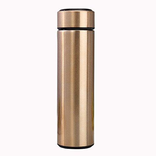 CAIYAH Taza de agua deportiva La taza de agua deportiva portátil no contiene BPA Botella de agua deportiva a prueba de fugas adecuada para acampar en bicicleta y deportes al aire libre Dorado