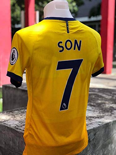FM Heung-min Son#7 Jersey 2020-2021 Full Premier Patch Yellow Color (S)