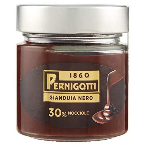 Crema Gianduia Nero, Crema Spalmabile Con Il 30% Di Nocciole E Il 14% Di Cacao, Senza Olio Di Palma, Senza Glutine, Vasetto Da 200G. - 200 g