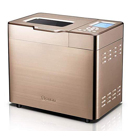 RUXMY Multifunktions-Brotautomatik 600 W, intelligenter schneller Brotbackautomat, 30 Menüs Smart-Menü, 5 personalisierte Einstellungen, 37 Grad, C-Hefeteig, 360 Grad, Rührklinge, 3 seitlich gebra