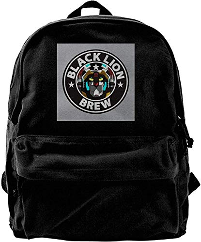 Homebe Mochila antirrobo Impermeable,Canvas Backpack Voltron Black Lion Brew Coffee Rucksack Gym Hiking Laptop Shoulder Bag Daypack for Men Women