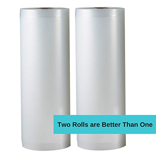 Why Choose Vacuum Sealer Rolls, Sous Vide Bags, Two (2), Large 11 Inch x 50 Ft, Commercial Grade Pla...