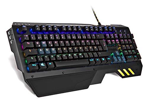 snakebyte PC KEYBOARD ULTRA - RGB mechanische Gaming Tastatur 16,8 Mio Farben einstellbar / Anti-Ghosting / Outemu Blue-Switches / Gummierte Handauflage /50 Mio Tastenanschläge Lebensdauer / DE Layout