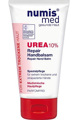 numis med Repair Handbalsam mit 10% Urea - Hautpflege parfümfrei & vegan - Handcreme für sensible, zu Neurodermitis neigende & trockene Haut - Hand Creme (1x 75 ml)