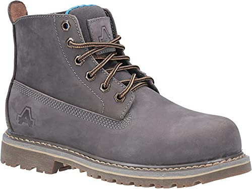 Amblers Safety Womens AS105 Mimi Lace Up Safety Boot Grey Size UK 8 EU 42