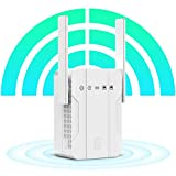 WiFi Extender - WiFi Repeater, 1200Mbps Dual Band WiFi Booster Covers Up to 2500 Sq.ft and 30 Devices with 2 Ethernet Port, Wireless Signal Repeater for Home