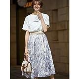 ファビュラスアンジェラ(Fabulous Angela) 楊柳刺繍ぼかしフラワープリントスカート