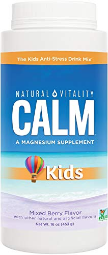 Natural Vitality Calm Specifics, Kids Magnesium Dietary Supplement Powder, Mixed Berry Flavor, 16 Ounce (Packaging May Vary)