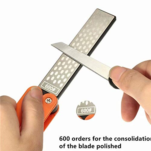 Lifreer 5 pulgadas de lado doble Whestone Grindstone para bolsillo plegable cuchillo...