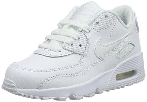 Nike Air Max 90 LTR (PS), Scarpe da Trail Running Bambino, Bianco (White/White 100), 28 EU