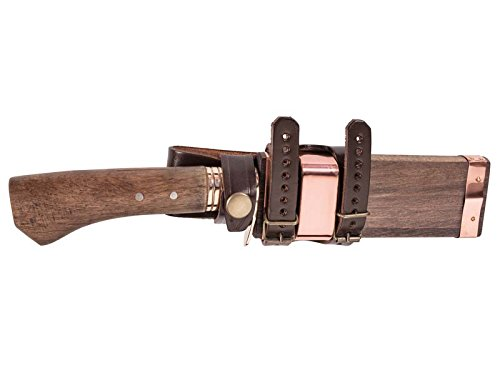 Jap. Jagdmesser, Damast, Eiche Jagd-/Outdoormesser