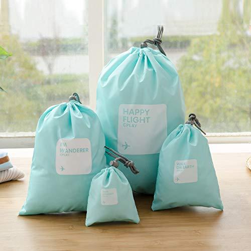 Homieco 8 Stück Wäschesack mit Kordelzug Wasserdichtes Nylon Aufbewahrungstasche Reise Wäschetasche Wäschebeutel für Kuscheltiere Spielzeug Kleidung Toilettenartikel