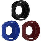 Guscio elastico protettivo di ricambio Chofit per Forerunner 235 / 735XT, gusci protettivi colorati in silicone, accessori Compatibile con Garmin Forerunner 235/735 XT., Black&Red&Blue