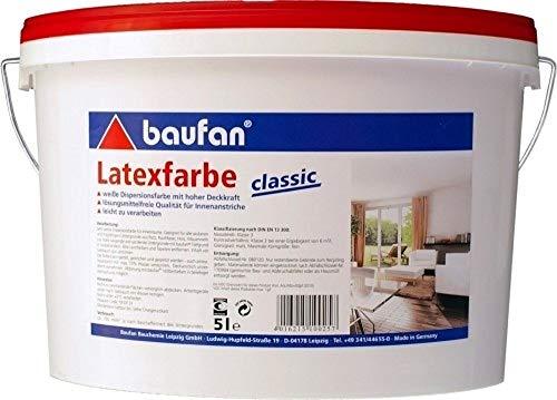 5 Liter Baufan Latex-Farbe classic weiß