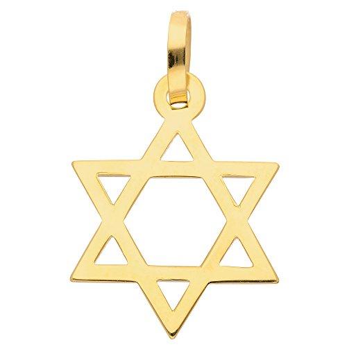 Gold Anhänger Davidstern 14 k 585 Gelbgold für Damen und Herren